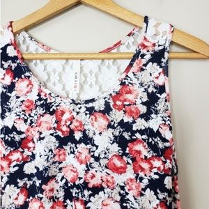 Gilli Tops - Gilli | Floral Lace Back Tank Top